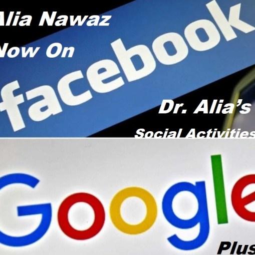 Dr. Alia's presence on Social media