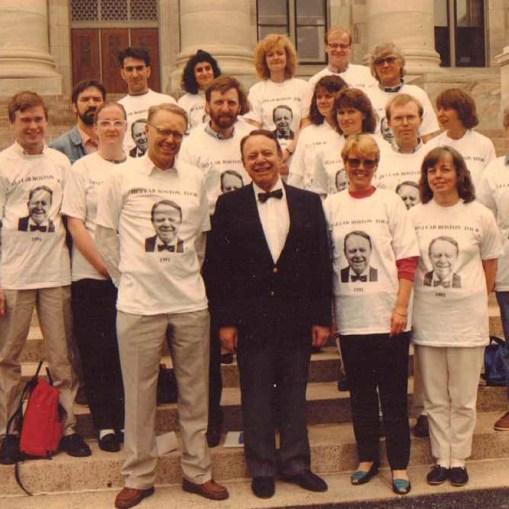Swedish Prof Hans Jornvall with his Group