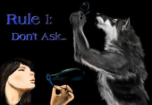 Is a werewolf blowing bubbles funny?