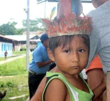 Child in Tigre river basin