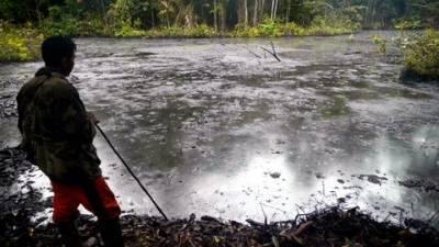Contamination on Pastaza River