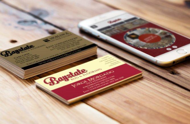 Baystate Rug Business Card Logo Design Graphic Design Chicopee, MA
