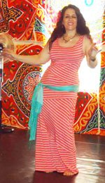 Photo of Alia Thabit by Leyla, at Arabesque ProCourse choreography showing, 2013