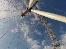 One more lovely shot of the London Eye from underneath.