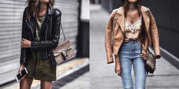 С чем носить кожаную куртку: 10 модных фото идей - Журнал Элис