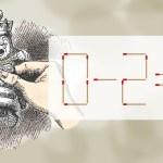 マッチ棒クイズ:白の王さま