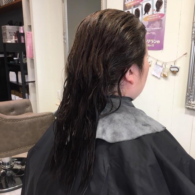 くせ毛のロングヘア