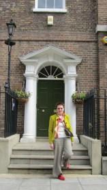 Mum outside John Street house