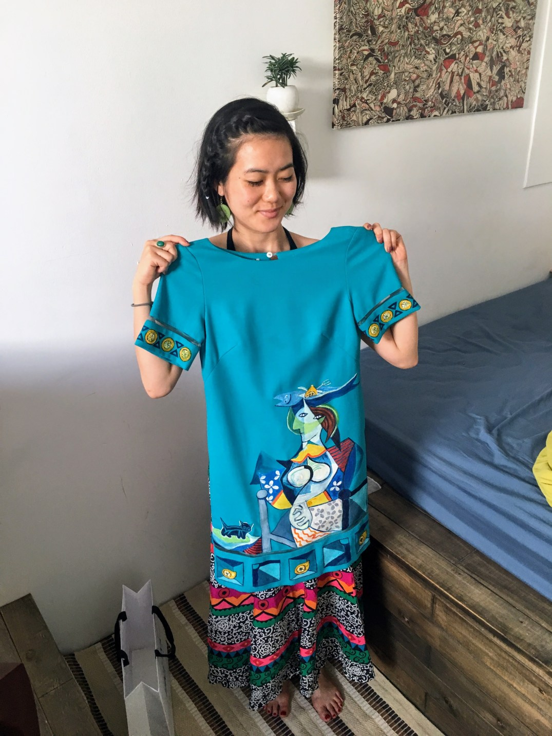 hand painted dress by Tiny Ink