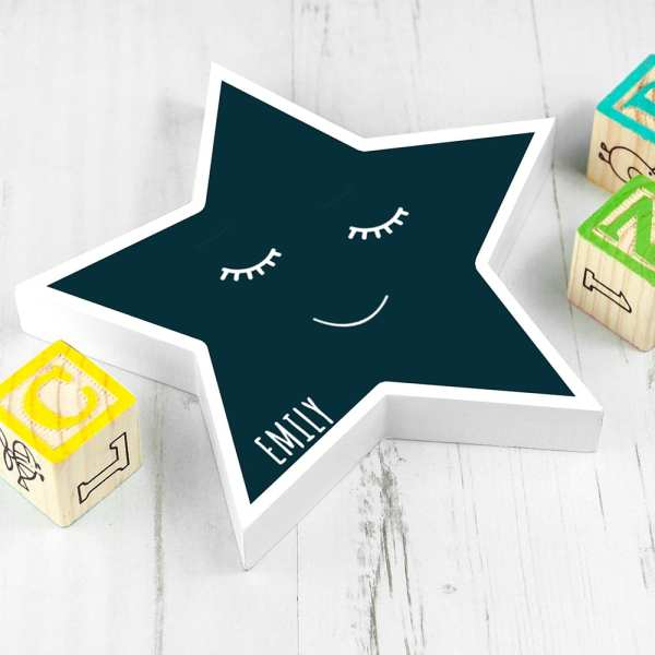 childrens name PERSONALISED SMILING STAR KEEPSAKE