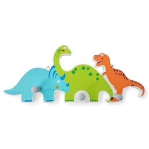 Dinosaur Themed Wooden Wall Hooks
