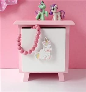 Wooden Unicorn Cabinet