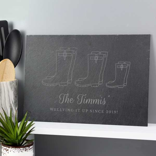 Family slate placemat