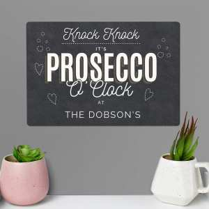 Prosecco hanging sign