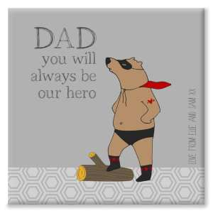 Superhero Bear Canvas