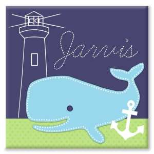Personalised Children's Whale Canvas