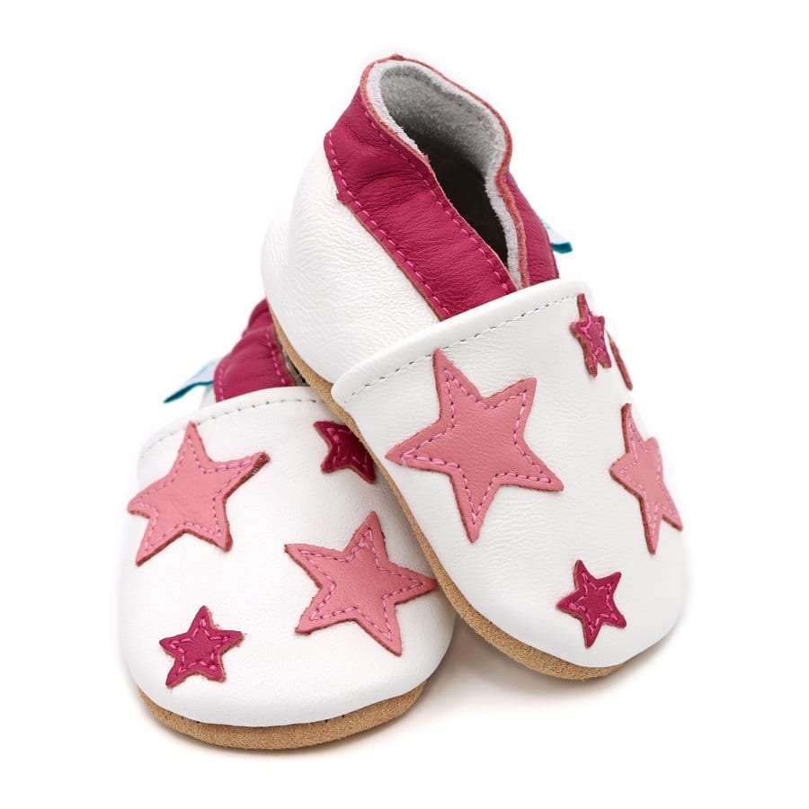 0e9b5abf67b057 Pink And White Twinkle Stars Baby Shoes - Alice   Joseph - Kids Store