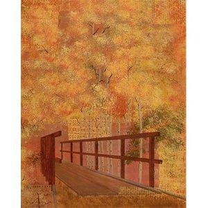 aspen, bridge, aspen bridge, painting, paintings, art work, acrylic painting, modern art, contemporary art, collage, intuitive, landscape painting, landscape paintings, representational art, representational, mixed media art