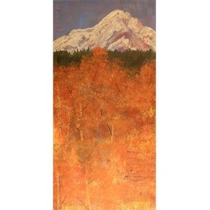 Collage, acrylic, mountain, aspen, aspen grove, acrylic paintings, paintings, painting, art work