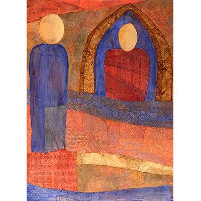 representational art, mixed media art, fine art prints, peaceful images, wood panels, redemptive, intuitive painting, spiritual art, collage artist, peace art, collage painting