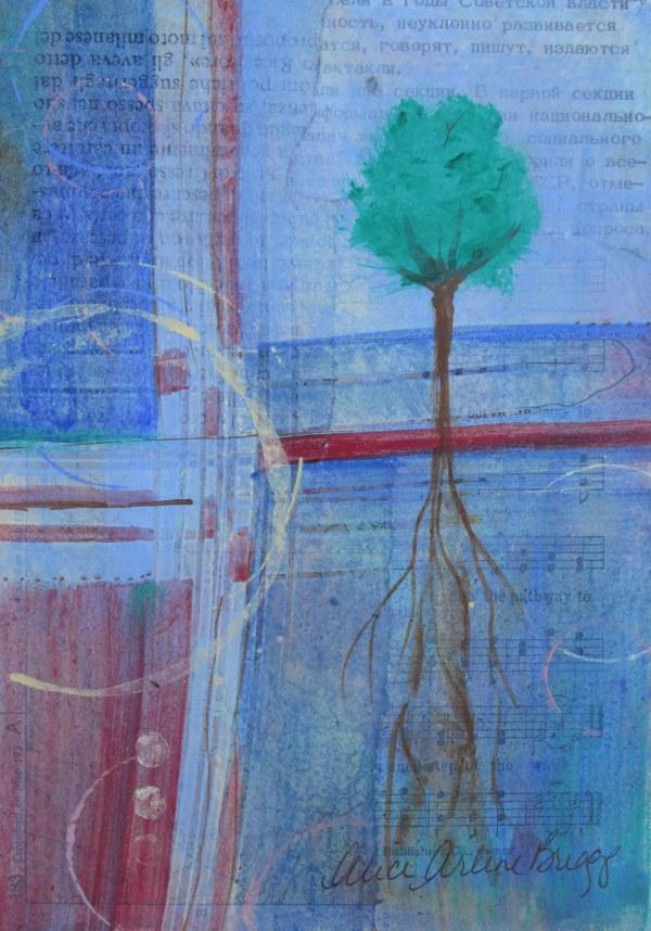 Growth, Abstract Art Tree Geometrics Prophetic Art Custom Art