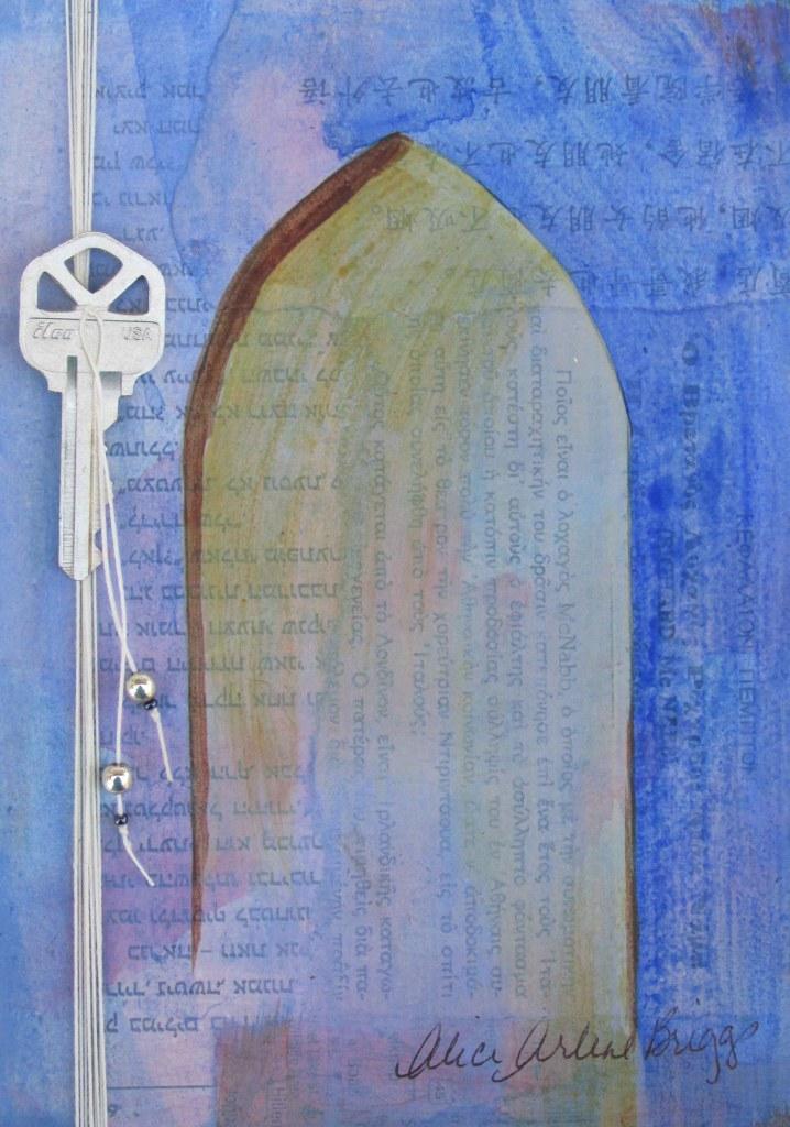 Key Door Embellished Custom artwork Mixed media