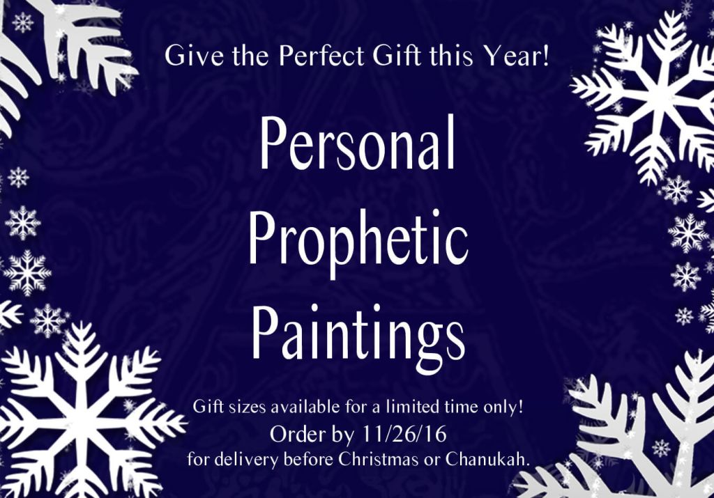 Personal Prophetic Paintings Perfect Gift Holiday Christmas Chanukah