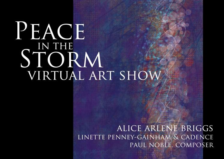 peace in the storm virtual art show abstract artwork