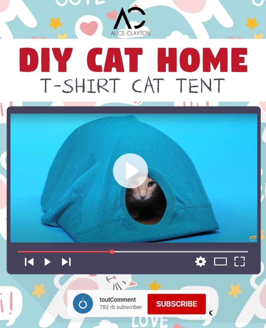 diy cat house cardboard box