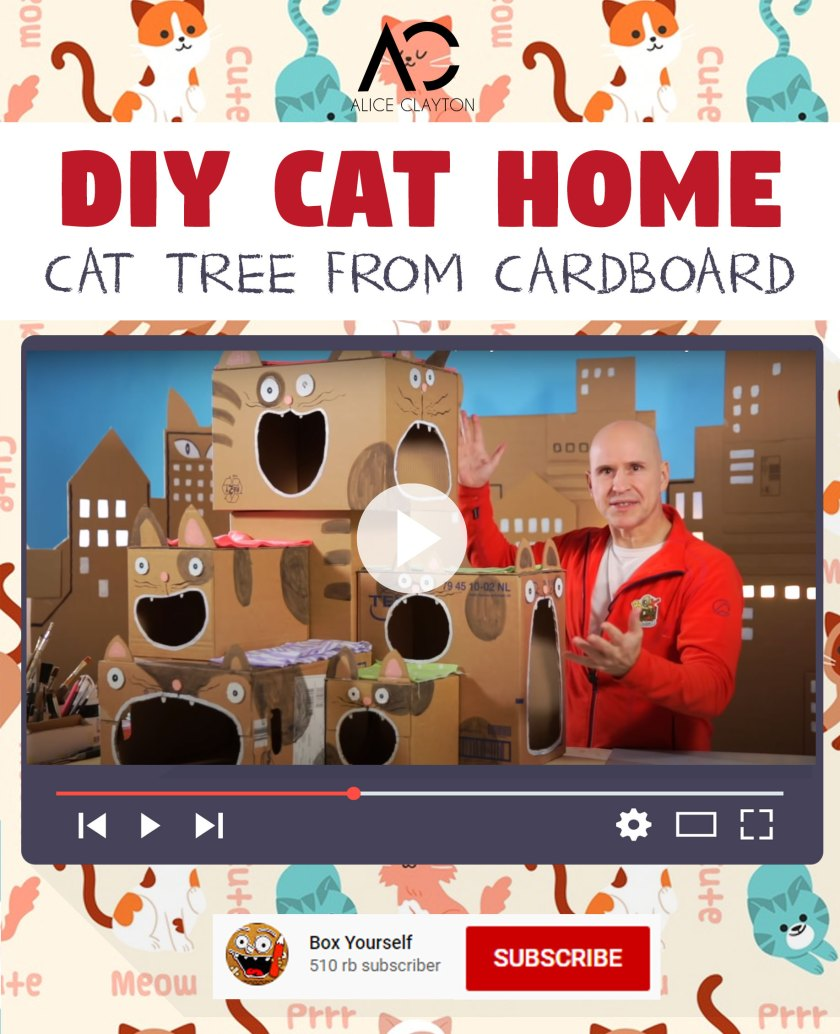 DIY Cat House Out of Boxes