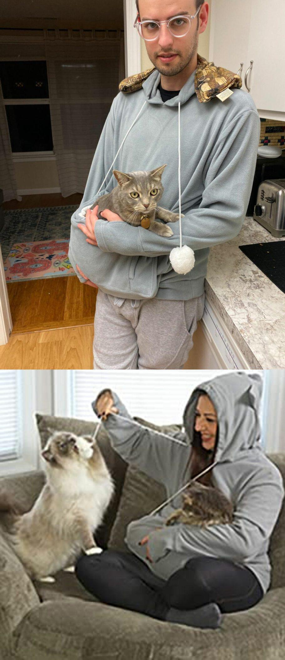 cat hoodie carrier