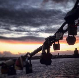 Love Locks along the Mersey