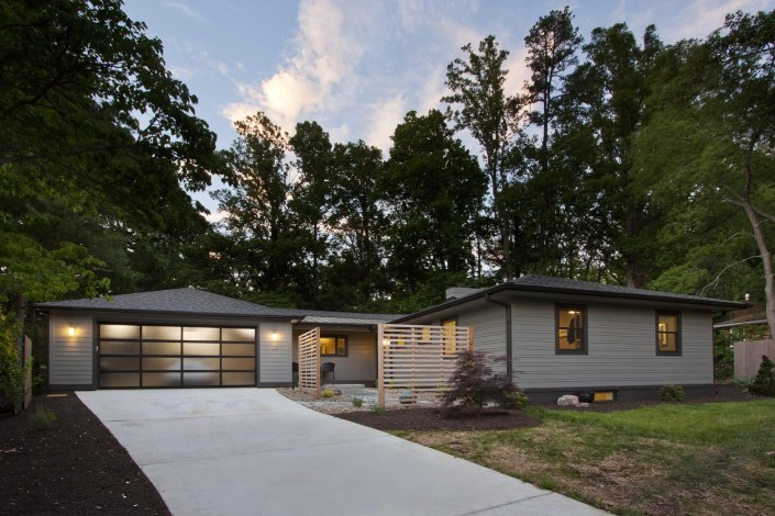 north asheville ranch remodel mountains yard expansion garage