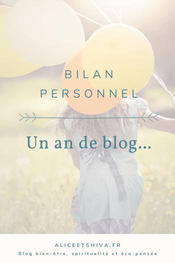 alice et shiva un an de blog bilan personnel blogging chamanisme spiritualite