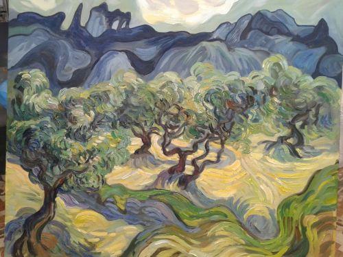 Une copie du tableau de Vincent Van Gogh faite par mon élève