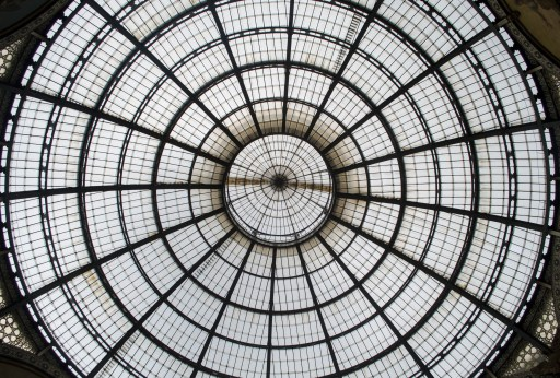 Stained glass roof of Milano's Galleria Vittorio Emanuele II