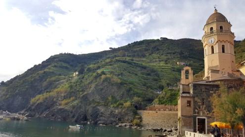 End of the village and church of Santa Margherita di Antiochia