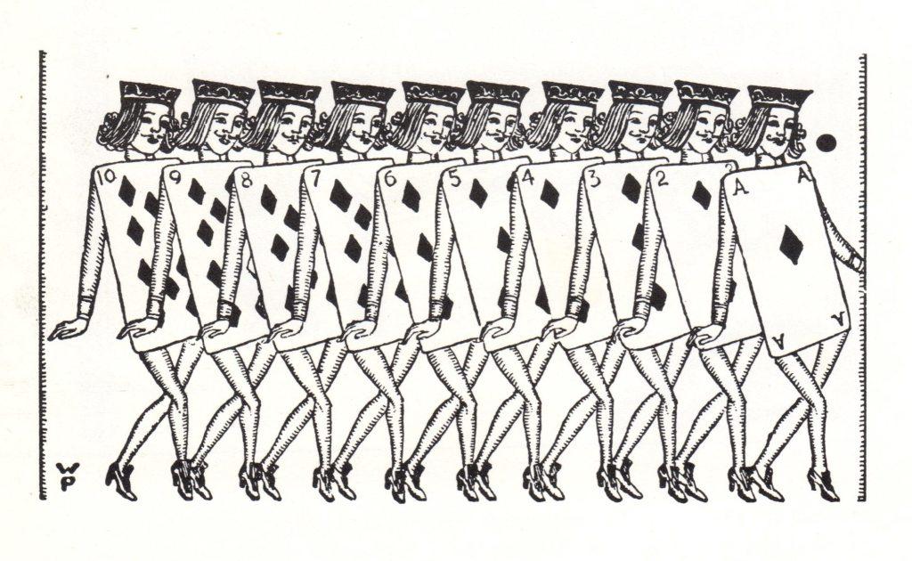 Flapper Alice in Wonderland Courtiers