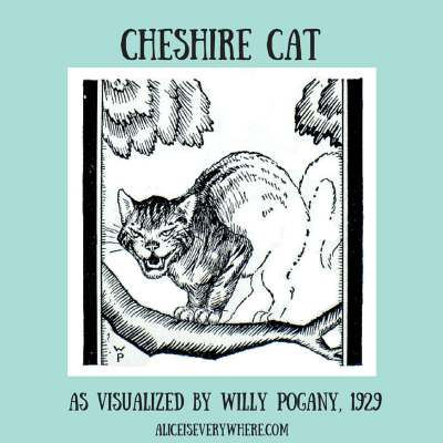 cheshire cat grins by willy pogany