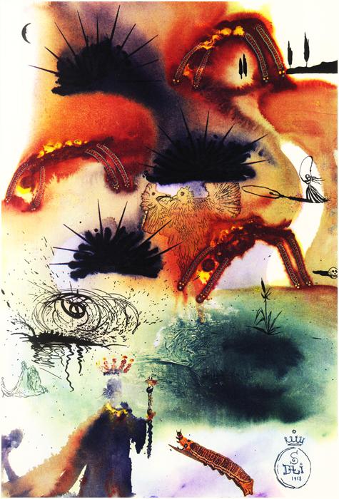 Salvador Dali illustrates The Lobster Quadrille from Alice's Adventures in Wonderland
