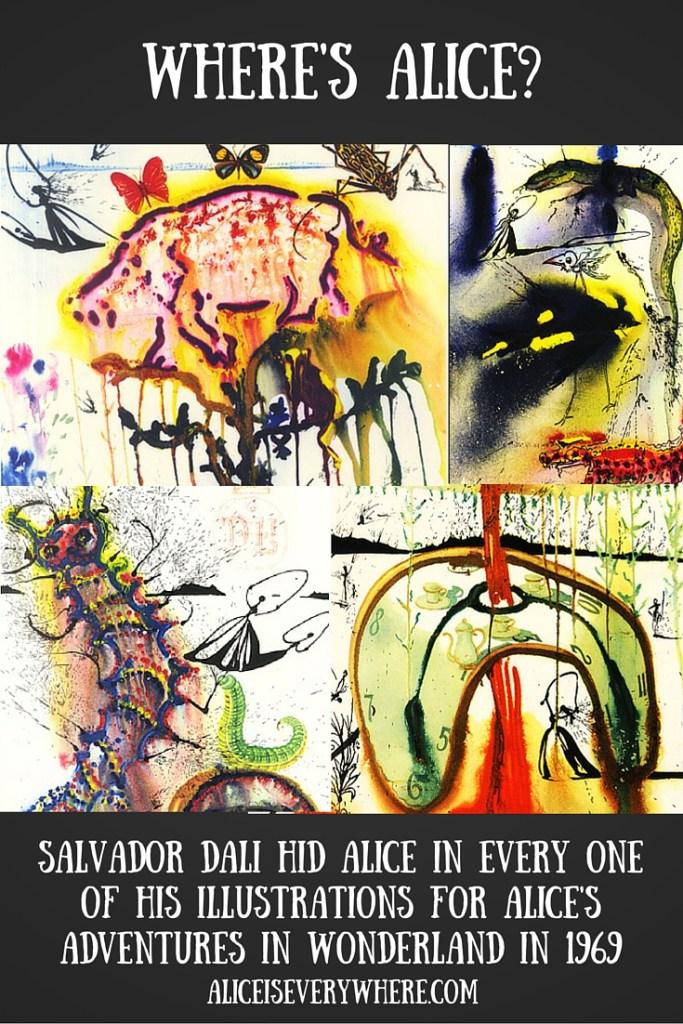 Salvador Dali Alice in Wonderland is in every illustration