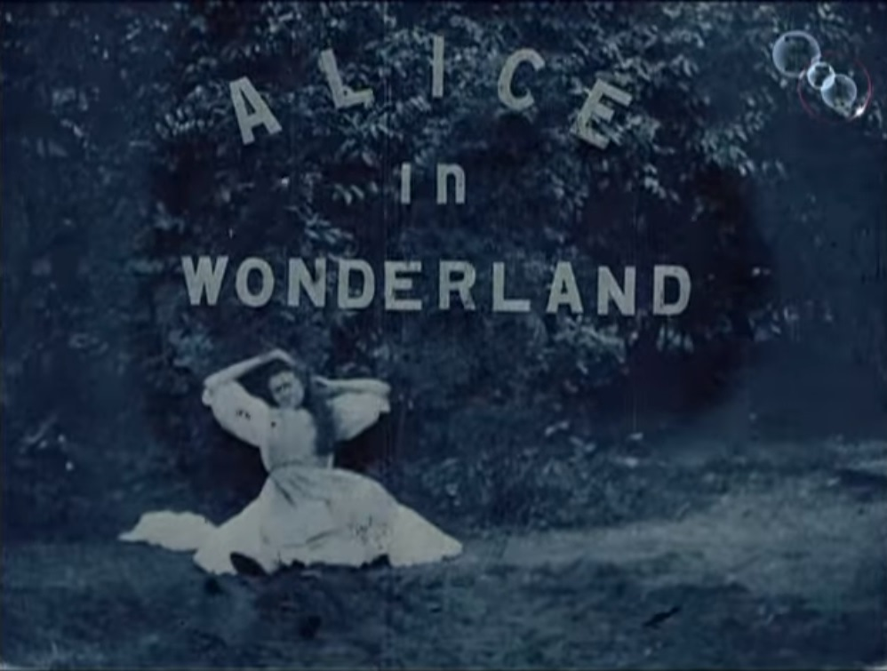 first alice in wonderland movie title card