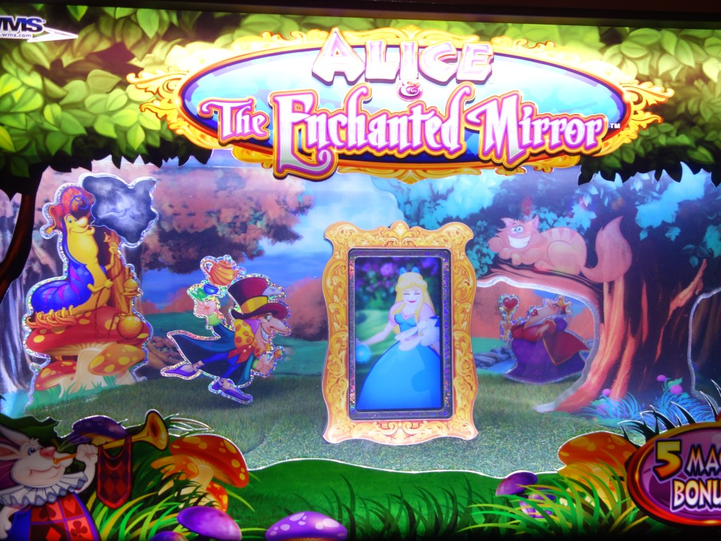 Alice in Wonderland in Las Vegas slot machine