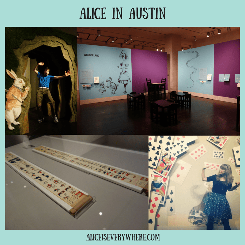 2015 alice in wonderland exhibit in austin texas