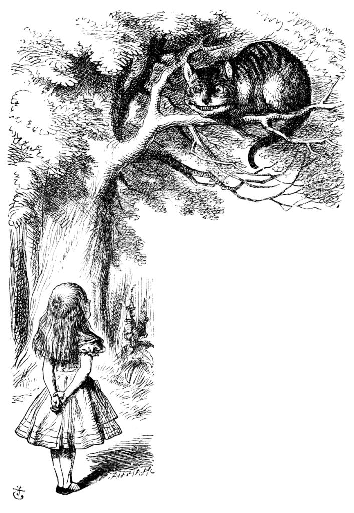 cheshire cat in tree