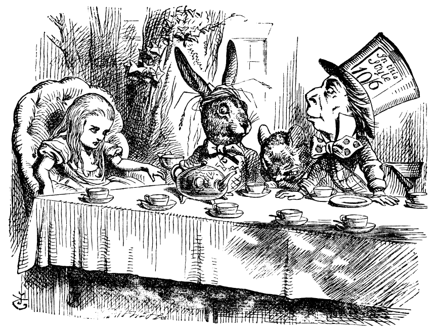 famous alice in wonderland mad tea-party