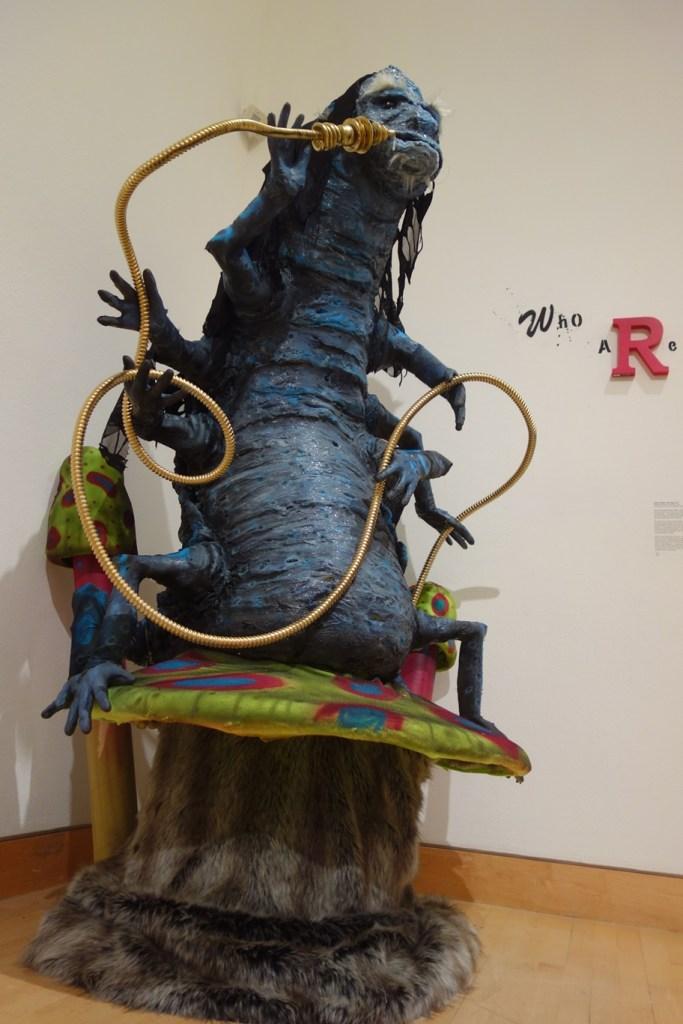 beautiful Alice in Wonderland caterpillar statue