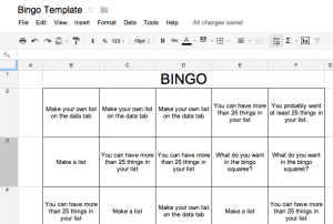 Bingo Template - Teacher Tech
