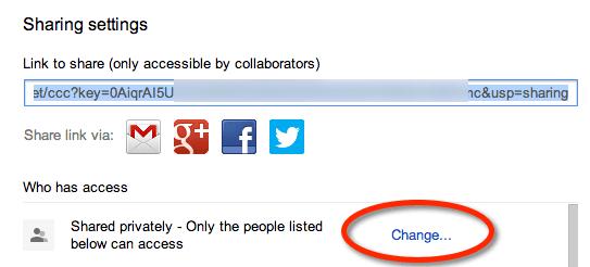 change sharing