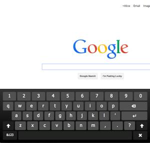 Chrome Virtual Keyboard